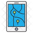 Mobile Map Gps Icon