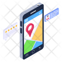 Mobile Map Mobile Location Mobile Direction Icon
