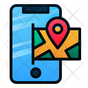 Mobile Maps Direction Phone Icon