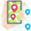 Mobile Maps Mobile Navigation Phone Map Icon