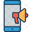 Mobile Marketing Bullhorn Mobile Icon