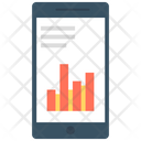 Mobile Marketing Bar Graph Mobile Graph Icon