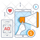 Digital Marketing Internet Marketing Mobile Marketing Icon