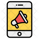Mobile Marketing Mobile Advertising Mobile Publicity Icon