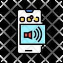 Sound Phone Color Icon