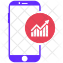 Mobile Marketing Finance Global Icon