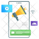 Mobile Marketing Mobile Promotion Mobile Announcement Icon