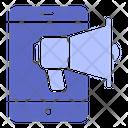Mobile Marketing Business Digital Icon