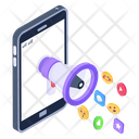 Online Promotion Mobile Media Marketing Media Advertising Icon