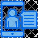 Smartphone Avatar Comunication Icon