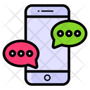 Discussion Forum Mobile Messaging Mobile Communication Icon