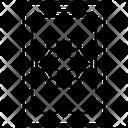 Mobile Molecule Structure Chemical Formula Icon