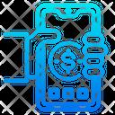 Mobile Phone Money Finance Icon
