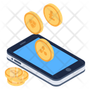 Mobile Currencies Digital Currencies Online Business Icon