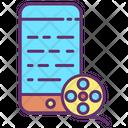 Reel Mobile Mobile Movie Movie Reel Icon