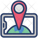 Online Location Mobile Navigation Gps Icon