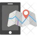 Cell Phone Location Gps Mobile Navigation Icon