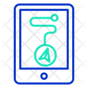 Mobile Navigation Mobile Route Destination Icon