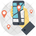Mobile Navigation App Icon