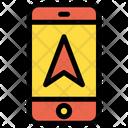 Mobile Direction Arrow Navigation Arrow Icon