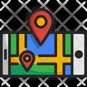 Navigator Map Smart Phone Icon