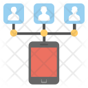 Mobile Network Communication Icon