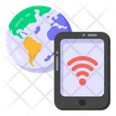 Phone Internet Mobile Network Global Wifi Icon
