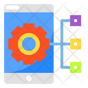 Smartphone Gear Networking Icon