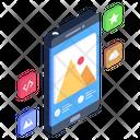 Mobile Networks Mobile Landscape Mobile Picture Icon