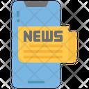 Mobile News Online News Digital News Icon