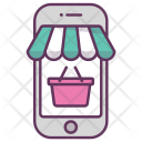 Mobile Online Shop Icon