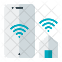 Mobile Operating Home Smart House Connection Icon