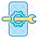 Mobile Optimization Mobile Phone Wrench Icon