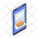 Mobile Package Mobile Parcel Mobile Delivery Icon