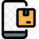 Mobile Parcel Logistics Delivery Tracking Parcel Icon