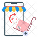 Mobile Parcel Delivery Icon