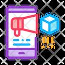 Telephone Notification Parcel Icon