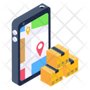 Mobile Parcel Tracking Mobile Order Tracking Online Parcel Tracking Icon