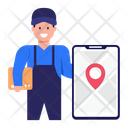 Mobile Parcel Tracking Icon