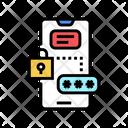 Smartphone Password Color Icon