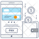 Mobile Pay Financial App Ebanking Icon
