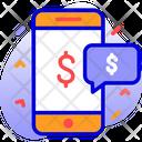 Mobile Money Dollar Icon