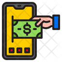 Mobile Phone Money Income Icon
