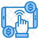 Mobile Phone Touch Money Icon
