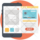 Mobile Payment Shopping Icon