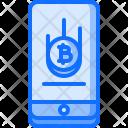 Phone Bitcoin Coin Icon
