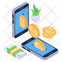 Cash Payment Mobile Money Mobile Payment Icon