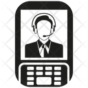 Mobile Phone Call Center Call Service Icon