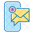 Mobile Phone Message Envelope Icon