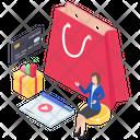 Online Shopping Digital Shopping E Commerce Icon
